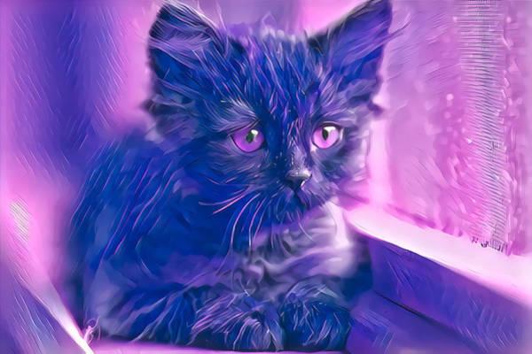 Digital Art - Wonderful Purple Eyes by Don Northup