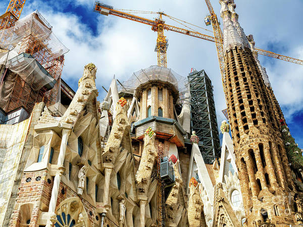 Photograph - Wonders Of Gaudi At The Sagrada Familia Barcelona by John Rizzuto