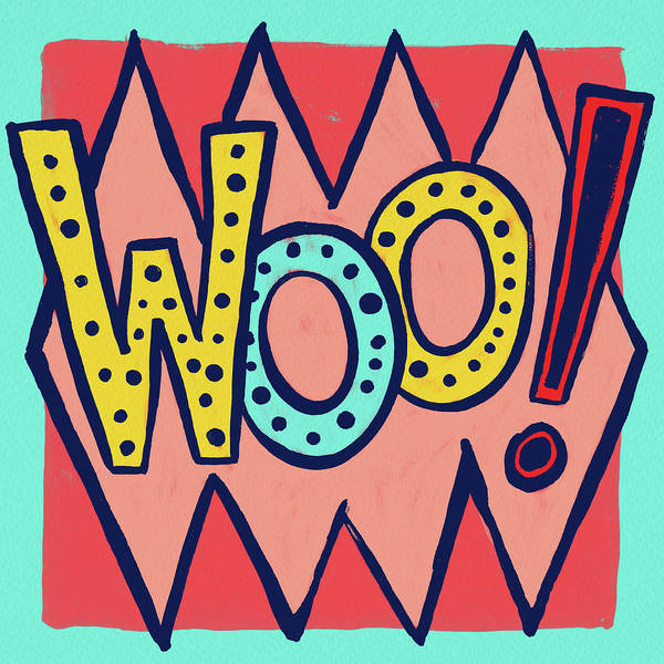 Painting - Woo by Jen Montgomery