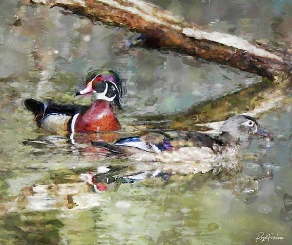 Wall Art - Digital Art - Wood Ducks by Roger Friedman