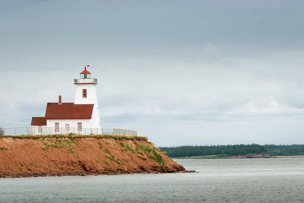 Weather Vane Photograph - Wood Islands Lighthouse by Westhoff
