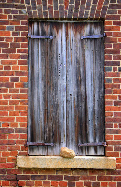 Photograph - Wood Plank Shutters by Cynthia Guinn