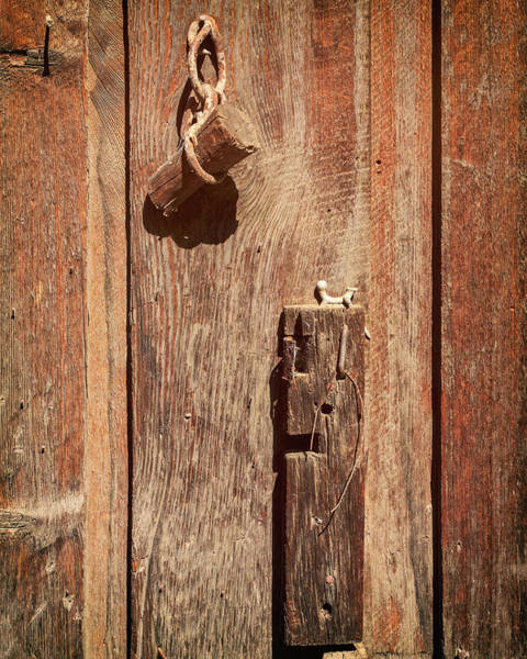Photograph - Wood Plug Hardware by James Eddy