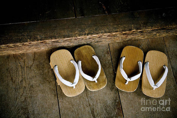Wall Art - Photograph - Wood Sandals by Kenneth Dedeu