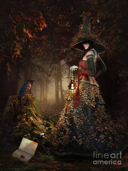 Wall Art - Digital Art - Wood Witch by Shanina Conway