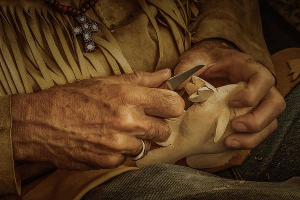 Photograph - Woodcarver by Guy Whiteley