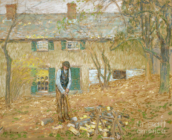 Wall Art - Painting - Woodchopper, 1902  by Childe Frederick Hassam