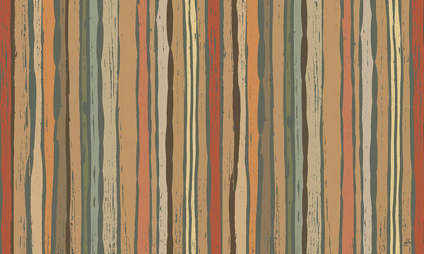 Wall Art - Painting - Woodcut Nature I by Daphne Brissonnet