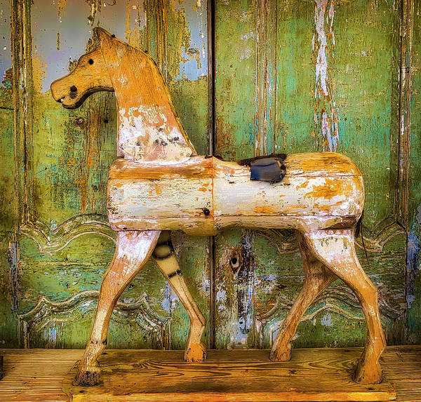 Wall Art - Photograph - Wooden Antique French Horse by Garry Gay