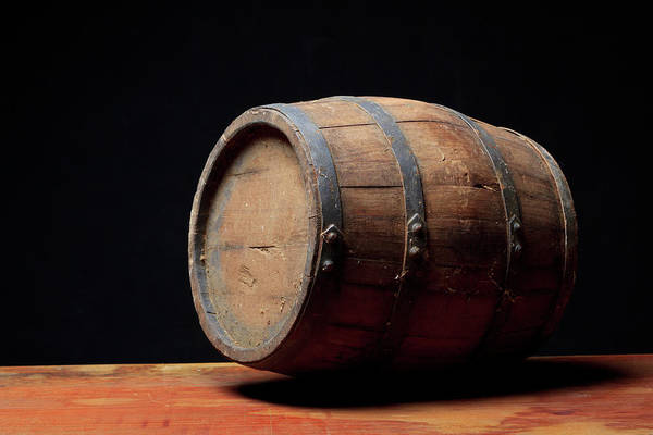 Alcohol Photograph - Wooden Barrel by Valentinrussanov