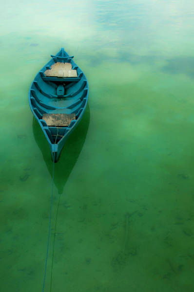 Jakarta Photograph - Wooden Boat On Crystal Clear Water by Zuraisham