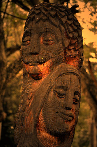 Digital Art - Wooden Couple by Bliss Of Art