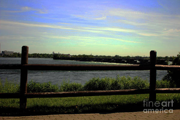 Photograph - Wooden Deck With Fence Overlooking The Ocean by Doc Braham