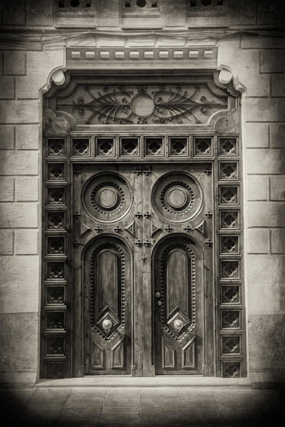 Wall Art - Photograph - Wooden Doors Of Old Valencia Spain  by Carol Japp