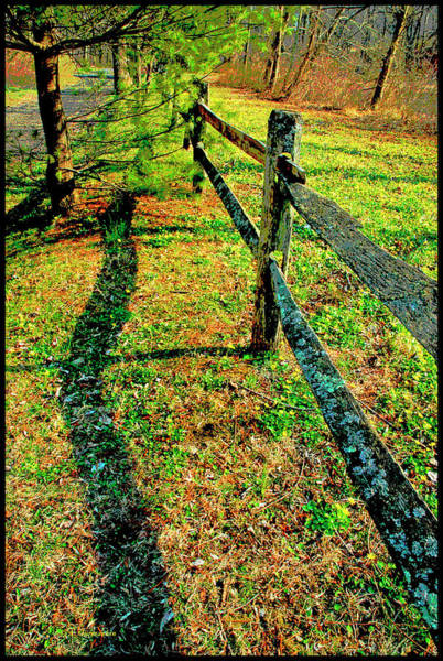 Photograph - Wooden Fence, Country Roadside by A Gurmankin