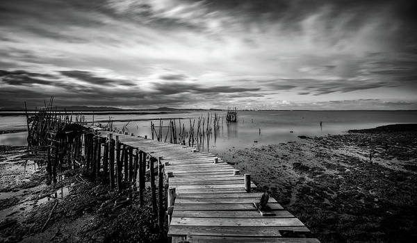 Wall Art - Photograph - Wooden Fishing Piers by Michalakis Ppalis
