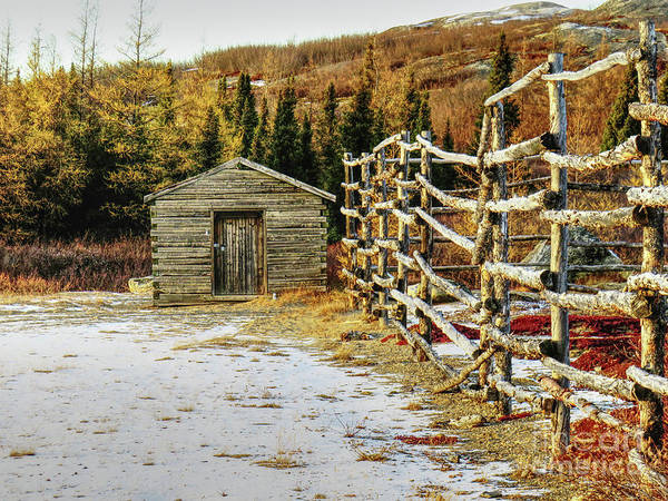 Charnel Photograph - Wooden House In Kuujjuaq, Quebec By The M by Celine Bisson