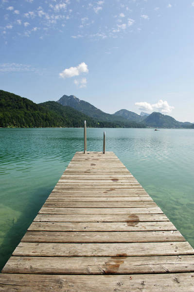 Jetty Photograph - Wooden Jetty Out To Lake Fuschl by Buero Monaco