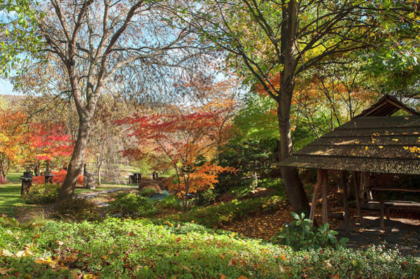 Photograph - Wooden Pavilion In Japanese Garden  by Jenny Rainbow