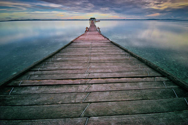 The Philippines Wall Art - Photograph - Wooden Pier by Landscape Artist