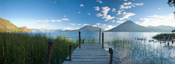 Wall Art - Photograph - Wooden Pier Stretching Into Still Lake by Cultura Rm Exclusive/ben Pipe Photography