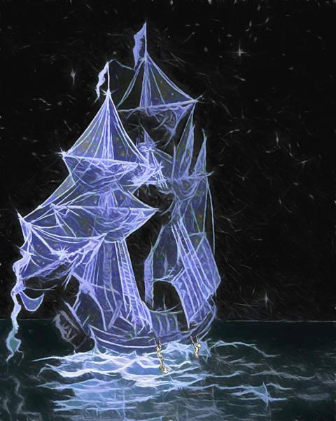 Digital Art - Wooden Ships by John Haldane