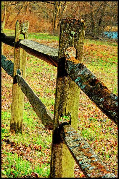 Photograph - Wooden Slab Fence Along Country Roadside by A Gurmankin