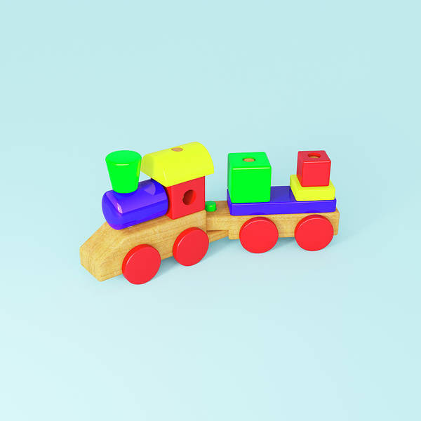Wood Photograph - Wooden Toy Train by Jon Boyes