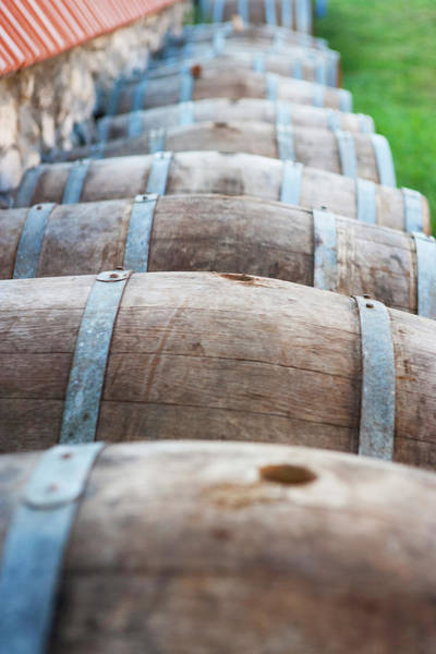 Moldova Wall Art - Photograph - Wooden Wine Barrels by By Yuri Kriventsov