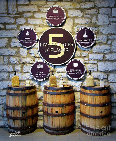 Digital Art - Woodford Reserve Flavor Sources by CAC Graphics