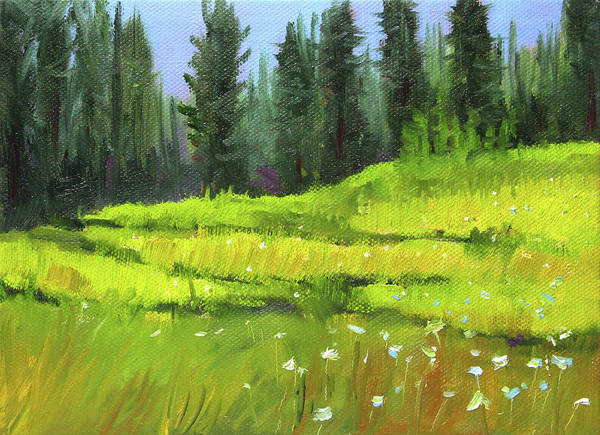 Wall Art - Painting - Woodland Meadow by Nancy Merkle