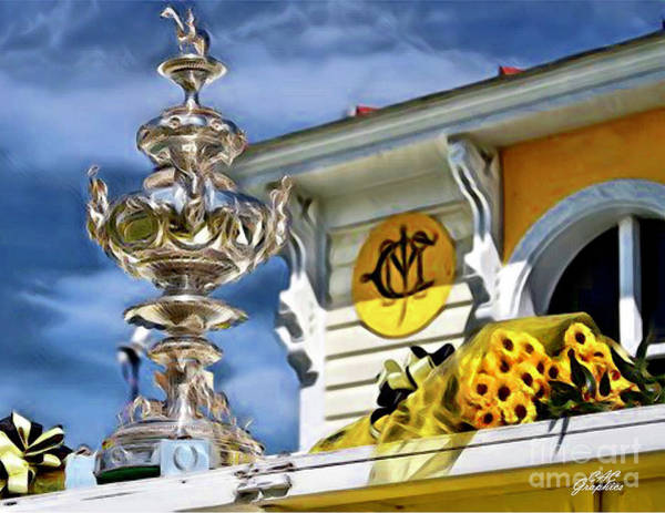 Painting - Woodlawn Vase Preakness Trophy by CAC Graphics
