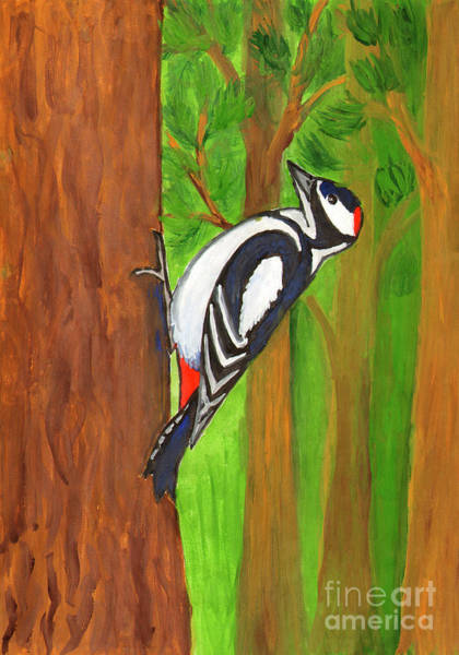 Painting - Woodpecker by Irina Dobrotsvet