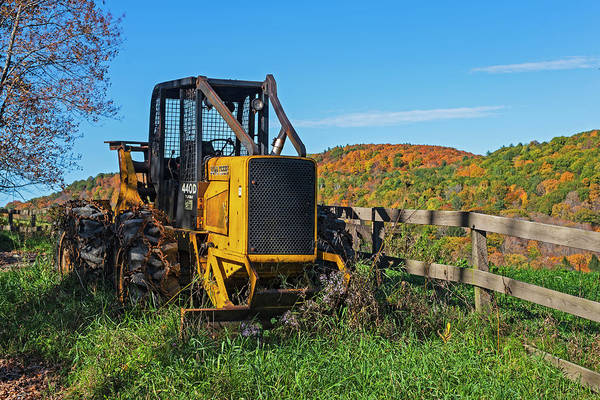 Photograph - Woodstock Vermont Tractor Fall Colors Vt by Toby McGuire