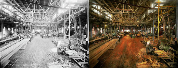 Photograph - Woodworker - Board Stiff 1905 - Side By Side by Mike Savad