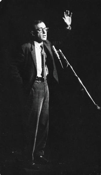 Photograph - Woody Allen Performs Stand-up At The by Fred W. McDarrah