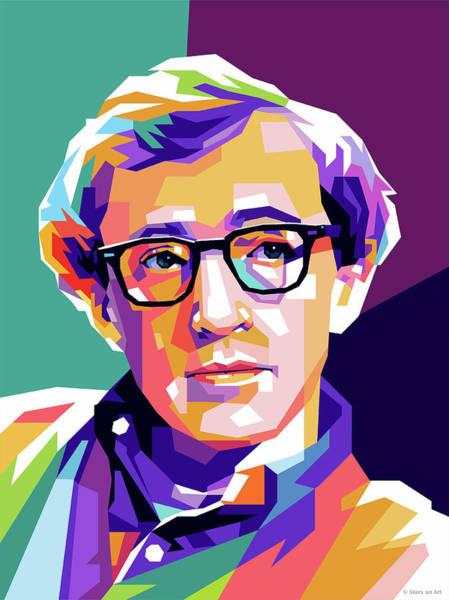 Wall Art - Digital Art - Woody Allen by Stars-on- Art