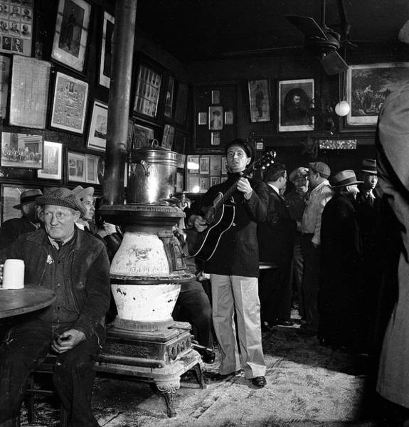 Customer Photograph - Woody Guthrie At Mcsorleys Bar by Eric Schaal