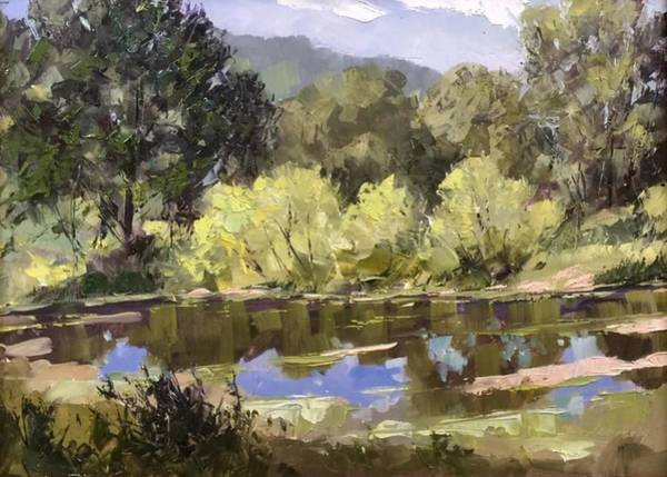 Painting - Woodys Pond by Marty Coulter