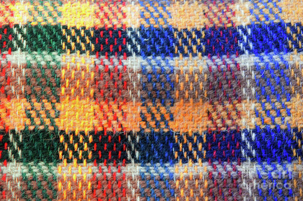 Wall Art - Photograph - Wool Tartan Pattern by Tom Gowanlock