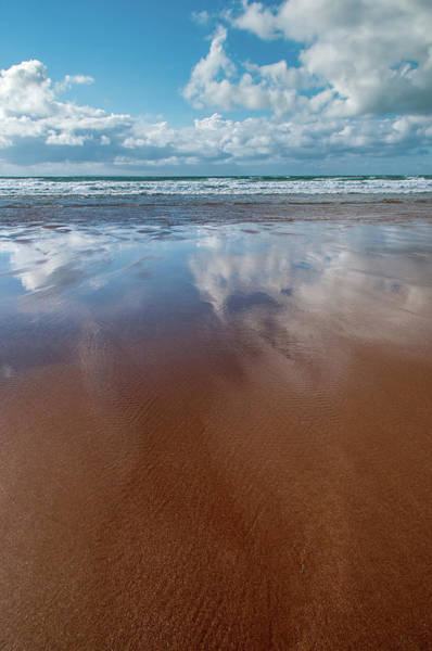 North Devon Wall Art - Mixed Media - Woolacombe Beach by Smart Aviation