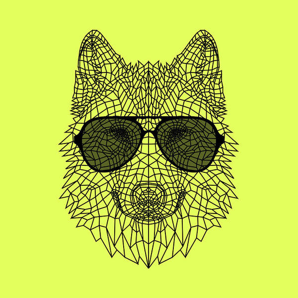 Bobcat Wall Art - Digital Art - Woolf In Black Glasses by Naxart Studio