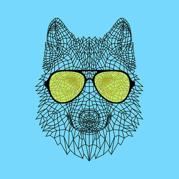 Bobcat Wall Art - Digital Art - Woolf In Yellow Glasses by Naxart Studio