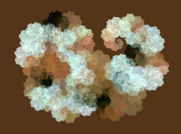 Wall Art - Digital Art - Woolly Sheep Fractal Brown by Betsy Knapp