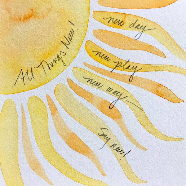 Painting - Word Painting 9 by Anna Elkins
