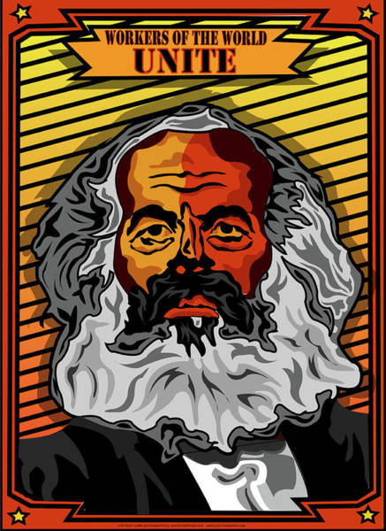 Philosopher Digital Art - Workers Of The World Unite by Larry Butterworth