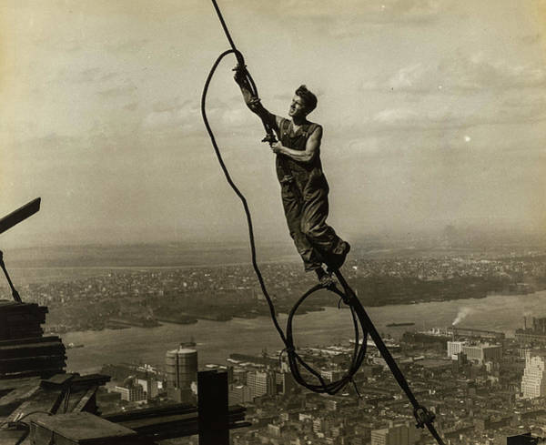 Wall Art - Painting - Workers On Teh Empire State Building, 1930 by Lewis Hine