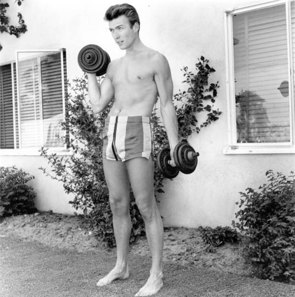 Clint Eastwood Photograph - Working Out by Michael Ochs Archives