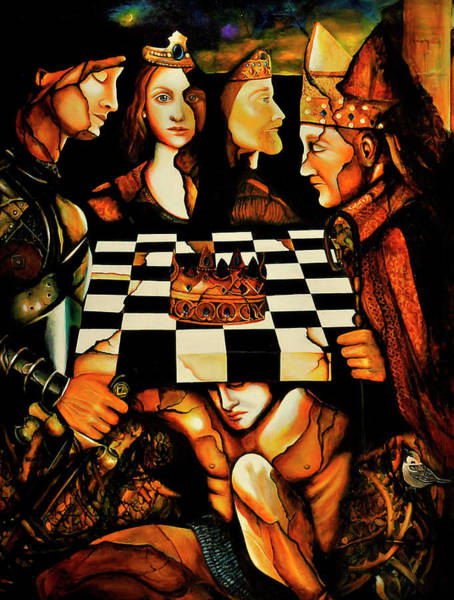 Chess Knight Wall Art - Painting - World Chess   by Dalgis Edelson
