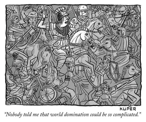 Drawing - World Domination by Peter Kuper